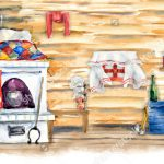 stock-photo-russian-traditional-interior-of-the-russian-log-hut-watercolor-hand-drawn-illustration-277235252